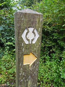 West Highland Way markers